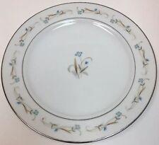 Hira Elizabeth Set of 4 Dinner Plates Fine China Blue Flower Platinum Verge Trim
