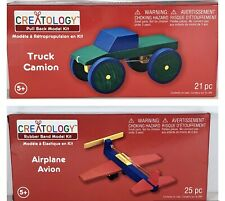 Lot Of 2 Creatology Kit - TRUCK (pull back model) & AIRPLANE (rubber band model)