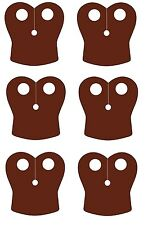 6 x (Pack of 6) Brown Pauldron Capes for Lego Star Wars Minifigs NEW