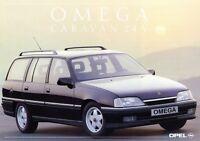 Opel Omega Caravan 24V Prospekt 1990 10/90 Autoprospekt brochure prospectus Auto