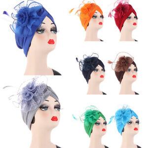 Fashion New Women Muslim Tulle Flower Hijab Turban Hat Headscarf Wrap Bonnet Cap