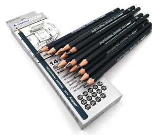 Kasimir Bleistiftset Zeichenbleistifte Bleistifte, 14er Set, 6H bis 12B