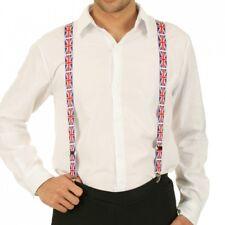 Men/Ladies Union Jack Braces Trousers Heavy Duty Adjustable 25mm Width Best Gift