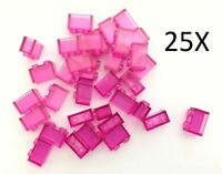 LEGO® Brick, 1 X 2 Trans Dark Pink 25 X Bricks of Part 3065 MOC