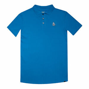 Penguin Boys Polo T-Shirt Pastel Blue Ages 7 Years up to 15 Years