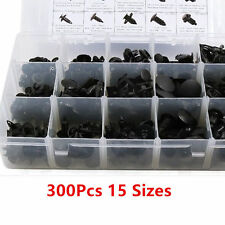 300× 15 Sizes Plastic Car Body Push Pin Rivet Clip Trim Fastener Assortment Clip