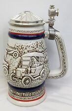 Vintage Avon Beer Stein - 1979 Stanley Steamer, MG, Bugatti - Ceramarte - Brazil
