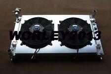 2 core aluminum radiator & shroud & fans for Holden VT VU VX HSV 3.8  V6