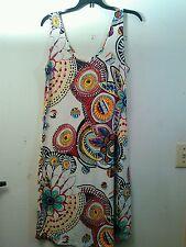 Hebe boho scoop neck tank dress Artsy, NWOT Multicolor abstract print.  Talla 50