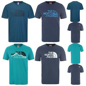 Men's The North Face T Shirt Crew Neck Tee Mountain Line Woodcut Dome Easy