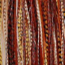 5 Feathers Hair Extension Earth Tone Remix 6-12 Feathers for Hair Extension Incl