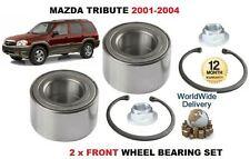 FOR MAZDA TRIBUTE 2.0 3.0 V6 4x4 4/2001 - 6/2004 NEW 2x FRONT WHEEL BEARING KIT