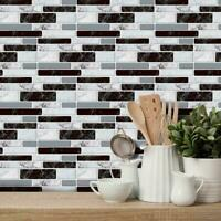 9pcs 3D Brick Tile Sticker Selbstklebende Wandaufkleber Badezimmer Küche S5M6