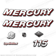 Mercury 2006 115hp Optimax Decal Kit - Discontinued Decals for Outboard Engines