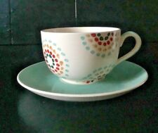 Whittard of Chelsea Large Cup & Saucer Muti Coloured Dot Pattern Cup & Plate VGC