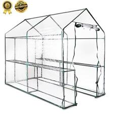 New Walk In GREENHOUSE Garden Hot House 4 Shelf Protect Plant Seedling Flowers