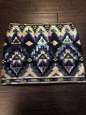 Express Womens Sequin Mini Skirt Aztec Size Small