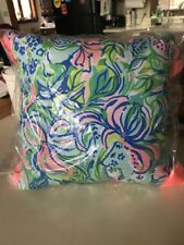 NWT LILLY PULITZER GWP FELINE GOOD TASSEL PILLOW