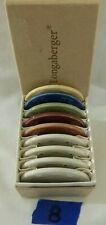 Longaberger 9 Mini Plates Sample Plates Butter Pats Coasters in Box