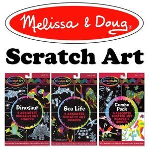 Melissa & Doug Scratch Art Childrens Craft Set   Creative Play   Party Packs