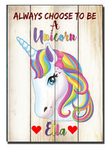 Personalised Unicorn Gift, Daughter, Unicorn, Friend, Name Gift, Plaque Sign