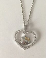 Hello Kitty Heart Shape Rhinestone Necklace Valentine