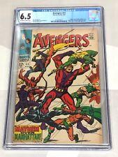 Marvel Comics Avengers 55 1st Appearance Ultron Huge KEY CGC 6.5 FN+ FINE+ 8/68