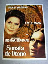 AUTUMN SONATA Original Vintage Movie Poster INGMAR INGRID BERGMAN LIV ULLMANN