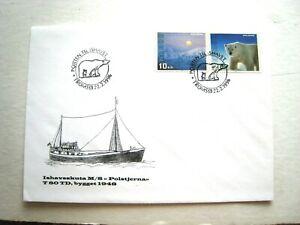 "NORWAY SVALBARD & POLAR BEAR FDC 1996. M/S ""POLSTJERNA"" TROMSO P/MK.   LOT#74"