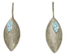 GEMSHINE Ohrringe Ohrhänger massiv 925 Silber mit Blautopas Edelsteinen