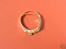 14K YELLOW GOLD HIGH POLISH SOLID NUGGET RING W/.010 Diamond SIZE 5 to 7