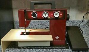 Vintage Viking Husqvarna Sewing Machine 5710 Model RED 790 C