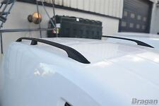 Pour 10-15 VW Volkswagen Caddy Maxi Lwb Aluminium Noir Barres de Toit Support