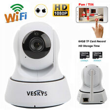 Wireless 1080P HD Pan/Tilt IR Network Security CCTV Camera WiFi IP Webcam IR-CUT