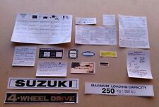 SUZUKI LJ 80 DECALS AND PLATES  (type 2)