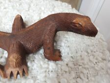 WOOD CARVING KOMODO DRAGON  INDONESIAN 26cm
