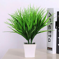Artificial Fake Plastic Green Grass Plant Flowers Office Home Garden Decor RMAU