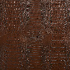 Brown Crocodile Reptile Skin Texture Vinyl Upholstery Fabric