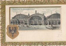 Frankfurt A.M. Estación principal de tren gel.1902 Grabación En Oro águila
