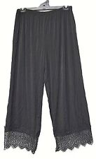 TS pants TAKING SHAPE plus sz S -M / 18 Moonlight Pant relaxed lace hem wide NWT