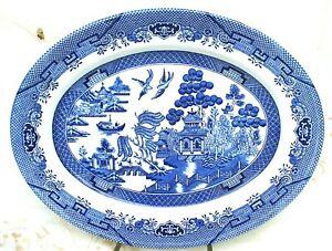 Churchill Blue Willow Platter (Made in England)