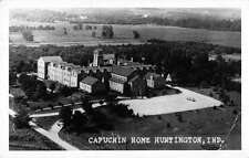 Huntington Indiana birds eye view over Capuchin Home real photo pc Z12425