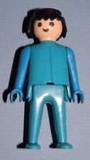 Playmobil 1974 Klicky Man Classic Style Black Hair Blue Clothes 24 Playsets