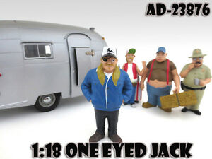 """ONE EYED JACK """"TRAILER PARK"""" FIGURE FOR 1:18 SCALE MODELS AMERICAN DIORAMA 23876"""
