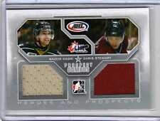 NAZEM KADRI CHRIS STEWART Rookie 09/10 ITG DUAL JERSEY /40 Game-Used Hockey Card