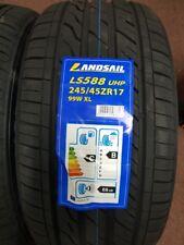 2X NEW CAR TYRES LANDSAIL LS588 245/45 ZR17 XL 99W A1 QUALITY A/W 245 45 17 B+