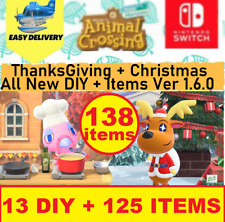 New Update 1.6.0 Christmas+Thanksgiving 138 Items+DlY+clothes Animal ;: Crossing