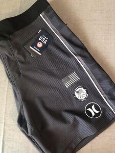 "Hurley Men's Sizes 30-38 Phantom Fastlane USA Olympics 18"" Boardshorts CQ2379"
