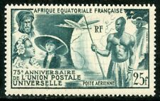 COLONIES FRANCAISES  75° ANNIVERSAIRE DE L'U.P.U. A.E.F. PA N° 54 * // COTE 14 €