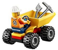 Miner Minifigure Dumper Elements Lego City Mining Team 60184